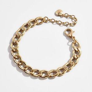 Baublebar small curb chain gold bracelet